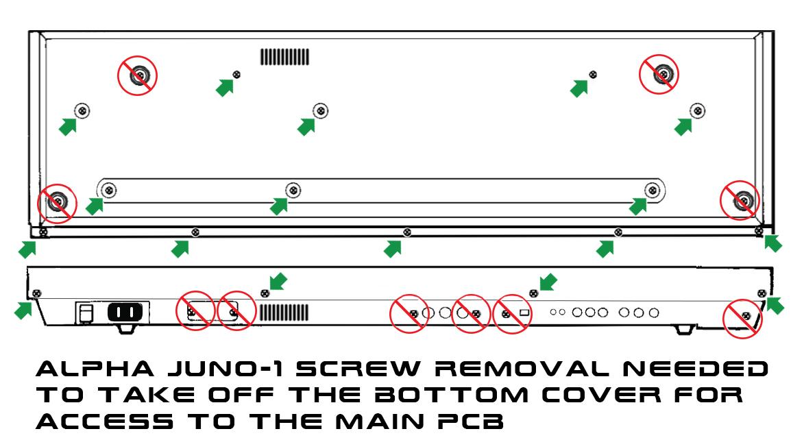 Alpha Juno-2 Screws