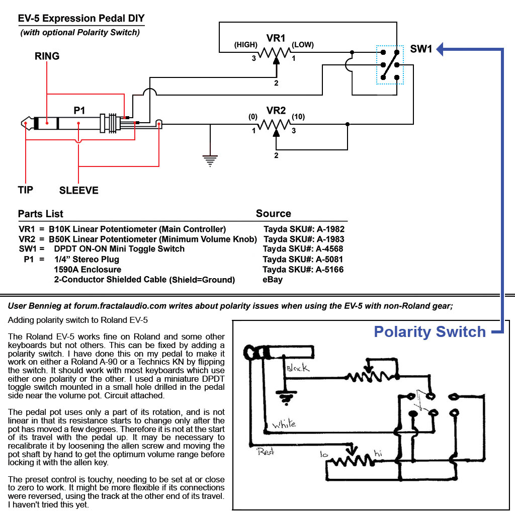 EV 5_DIY_with_Polarity_Switch external expression pedals external ctl pedals volume pedal wiring diagram at fashall.co