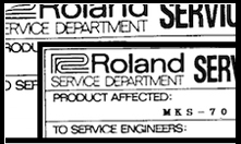 Roland Service Sheets
