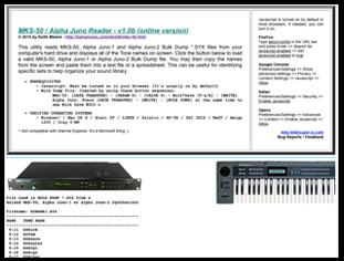MKS50 / Alpha Juno Reader